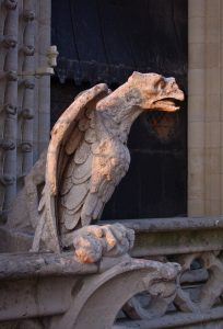 Gargoyle on Notre Dame, Paris, France