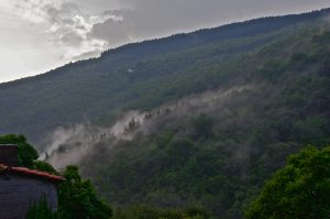 Mist through mountains, Labastide Esparbairenque
