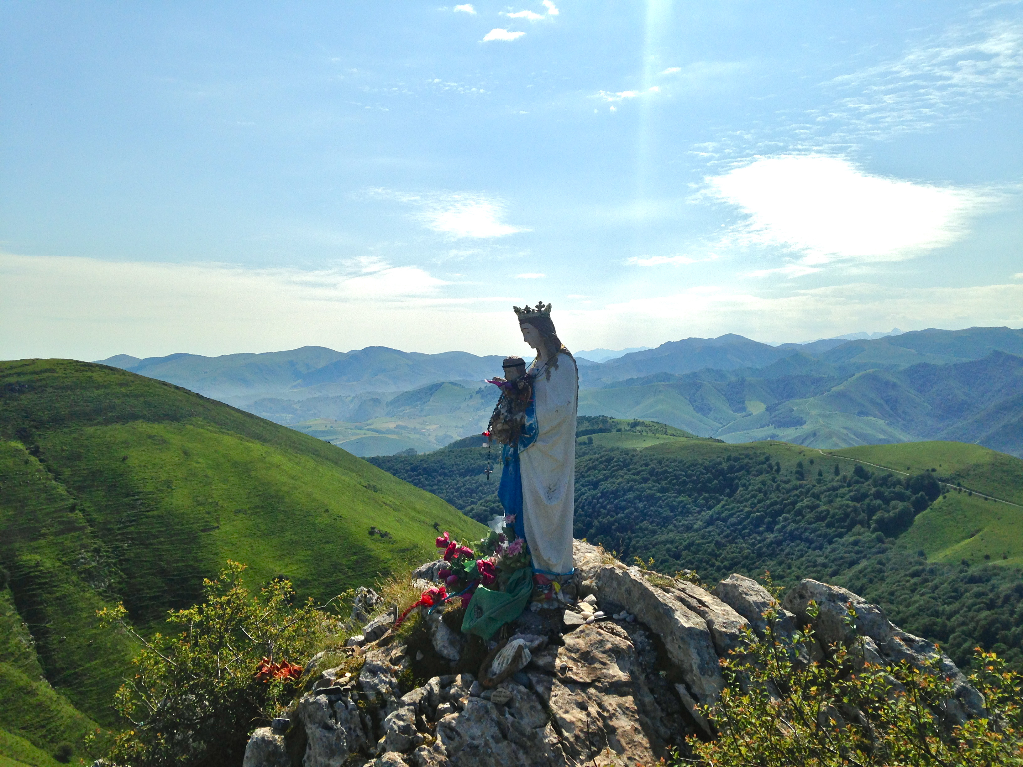Madonna in the Pyrenees, Camino de Santiago; the Frances or the Norte?
