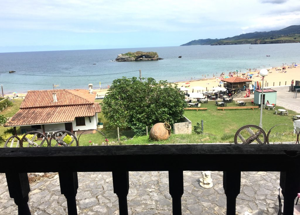 View from Marejada Hostel, La Isla, Camino del Norte