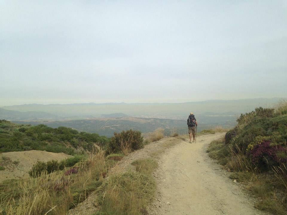 Pilgrim on Camino de Santiago