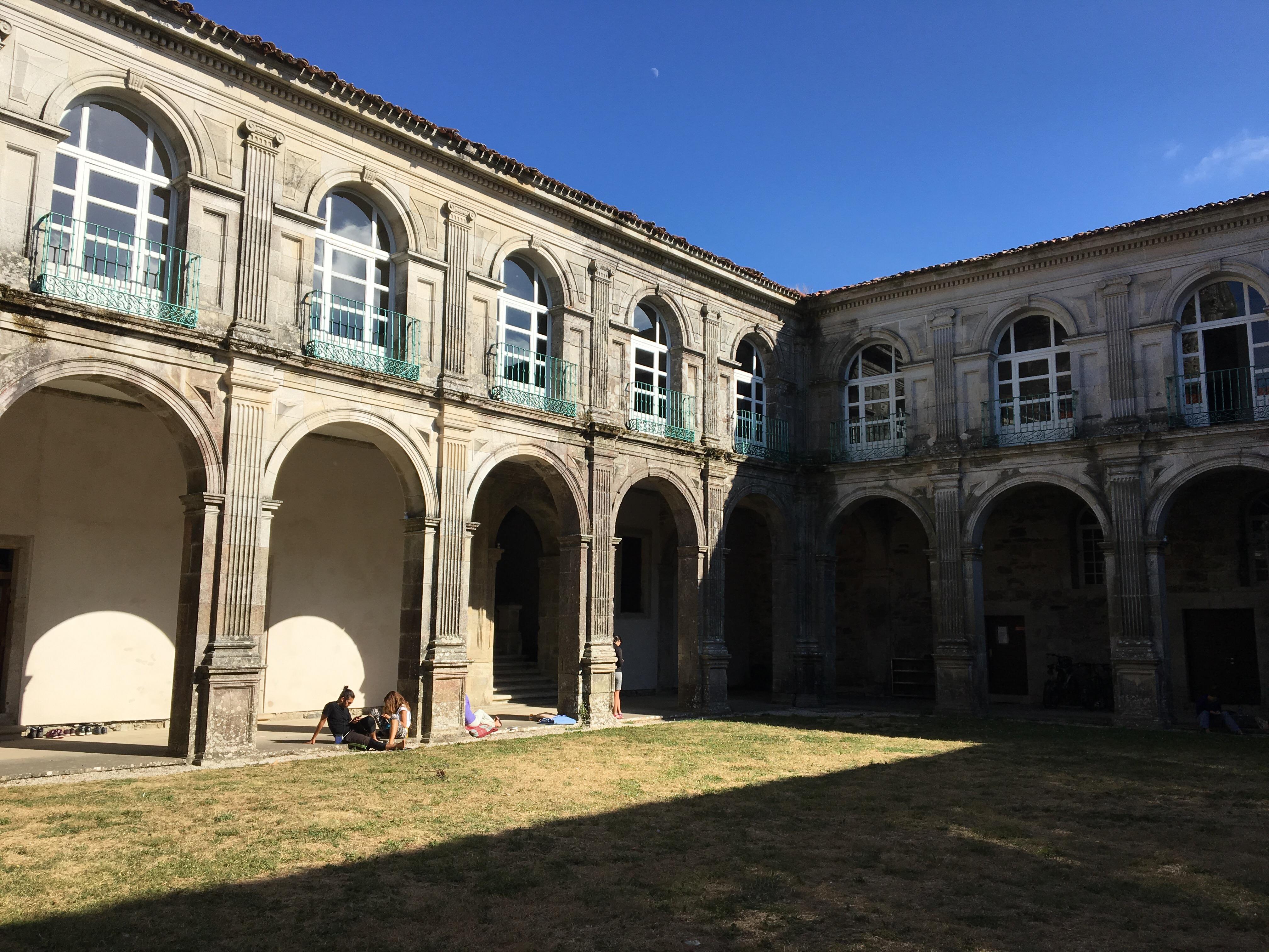 Cloisters of monastery, Sobrado dos Monxes, Camino del Norte