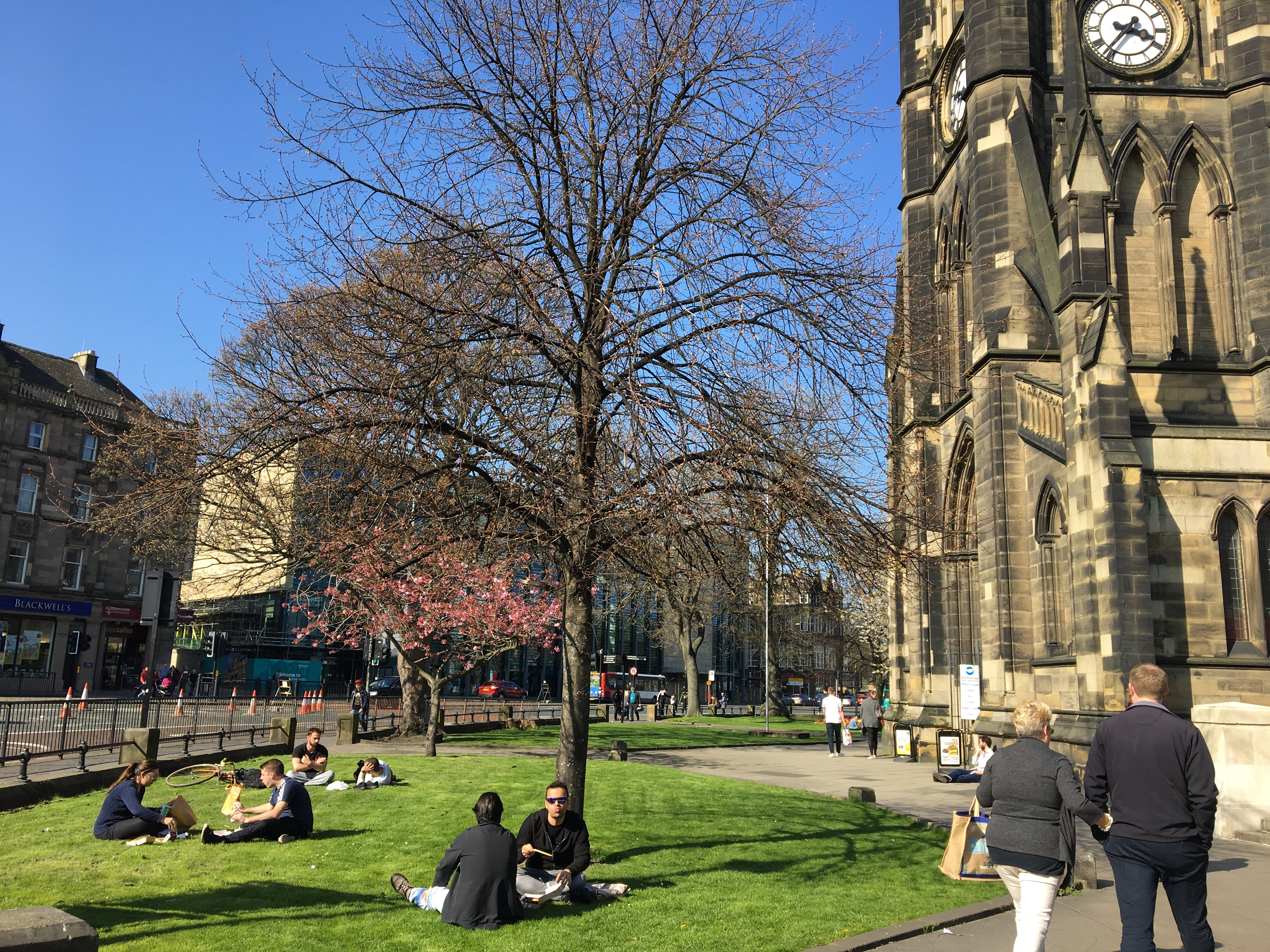 sunny day in Newcastle-upon-Tyne