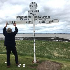 A Race to the End; Day 5 on Hadrian's Wall, Carlisle to Bowness-on-Solway (15-miles, 23km)