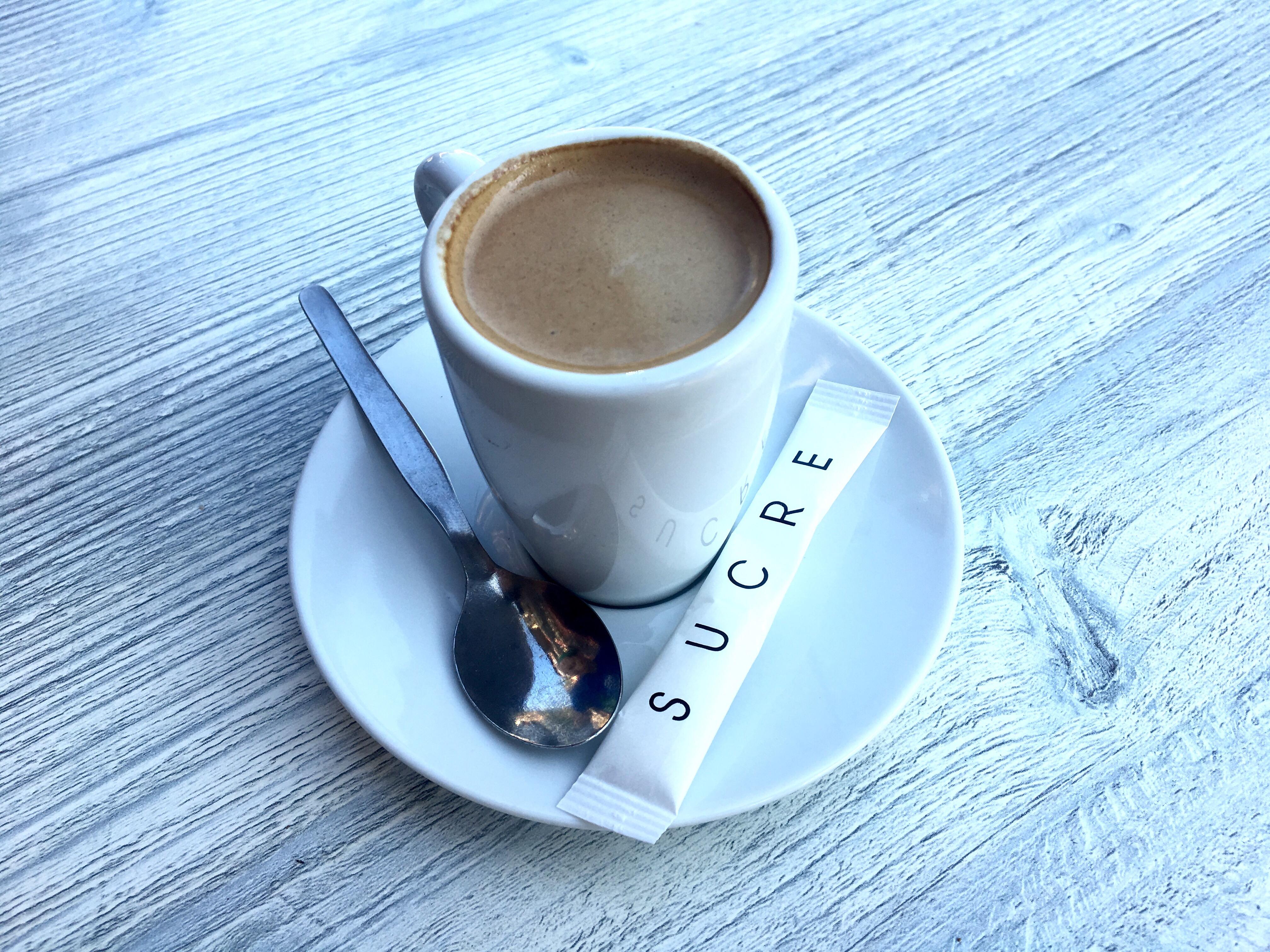 Café crème, Chemin du Puy, France