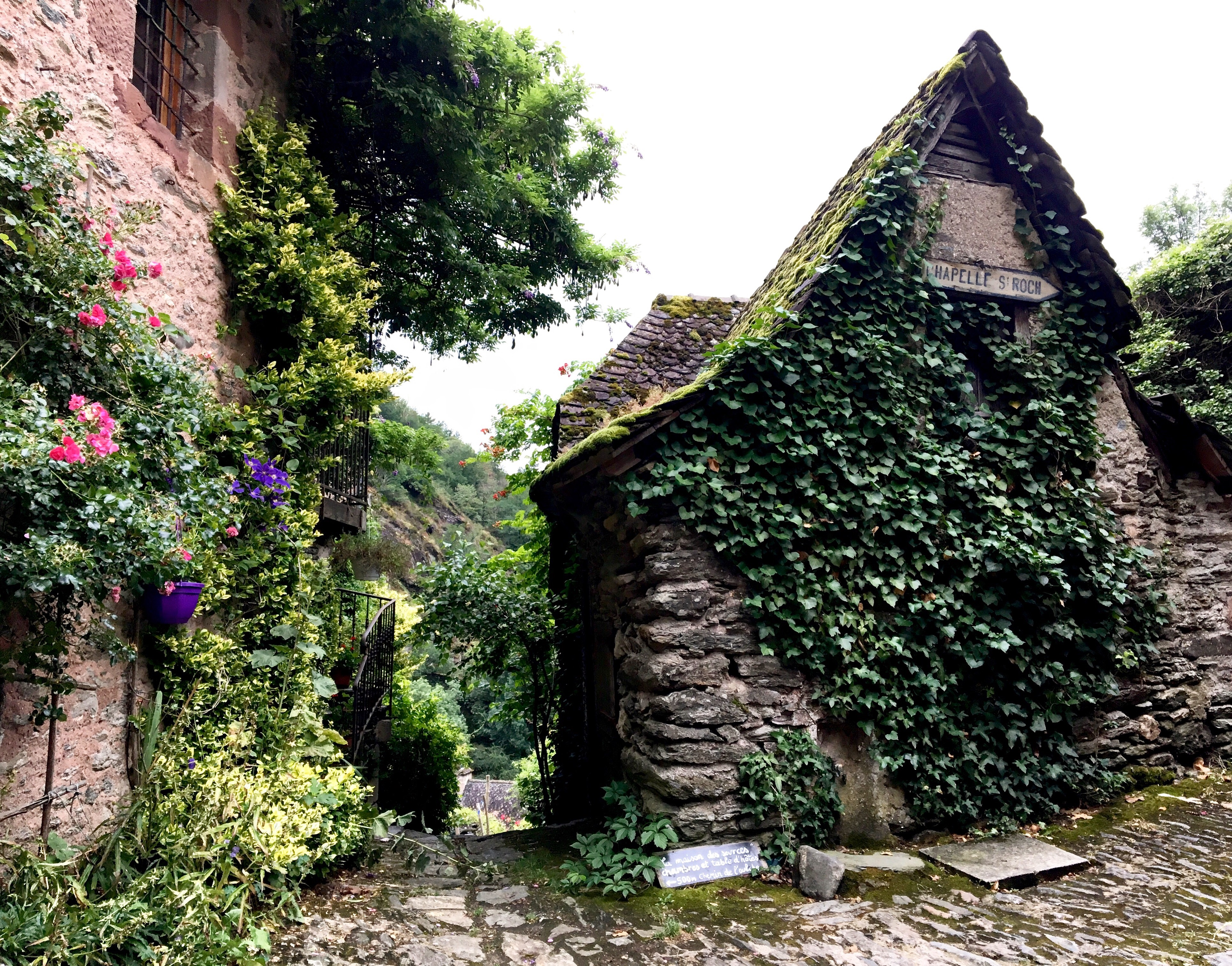 Leaving Conques, Chemin du Puy