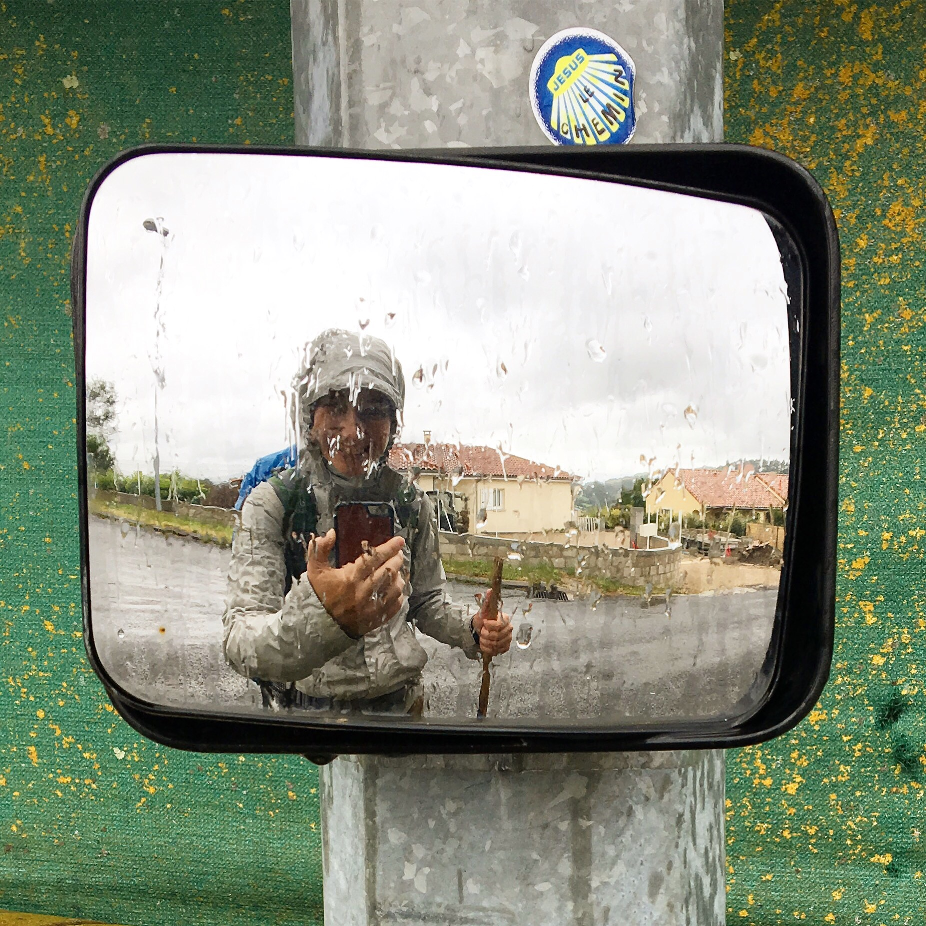 selfie in the rain, Chemin du Puy