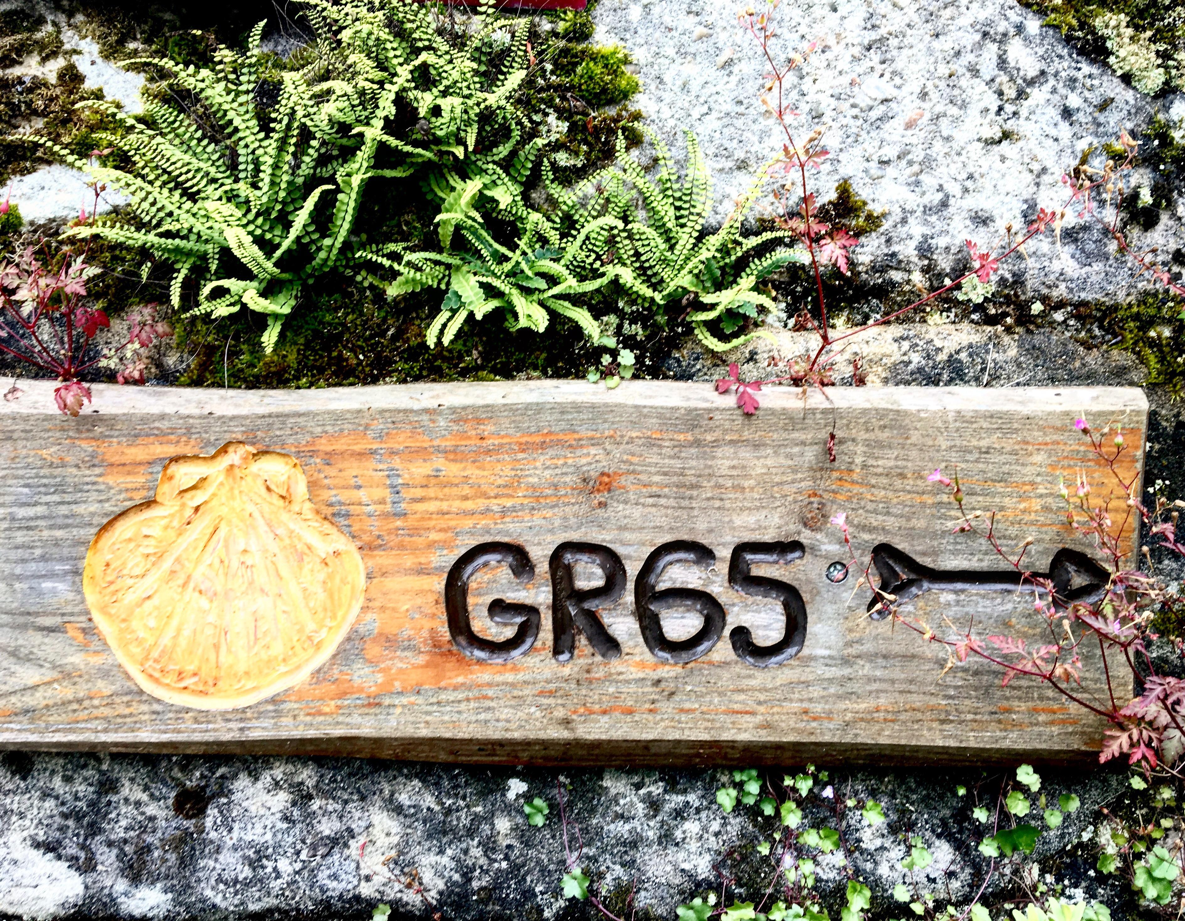 gr 65 sign, chemin du puy
