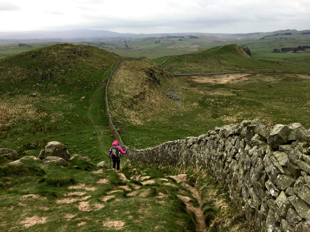 Path of Hadrian's Wall, England