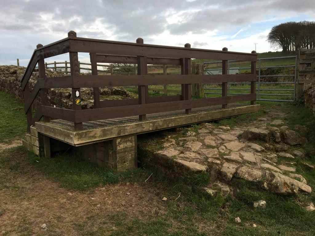 Platform over Hadrian's Wall, England