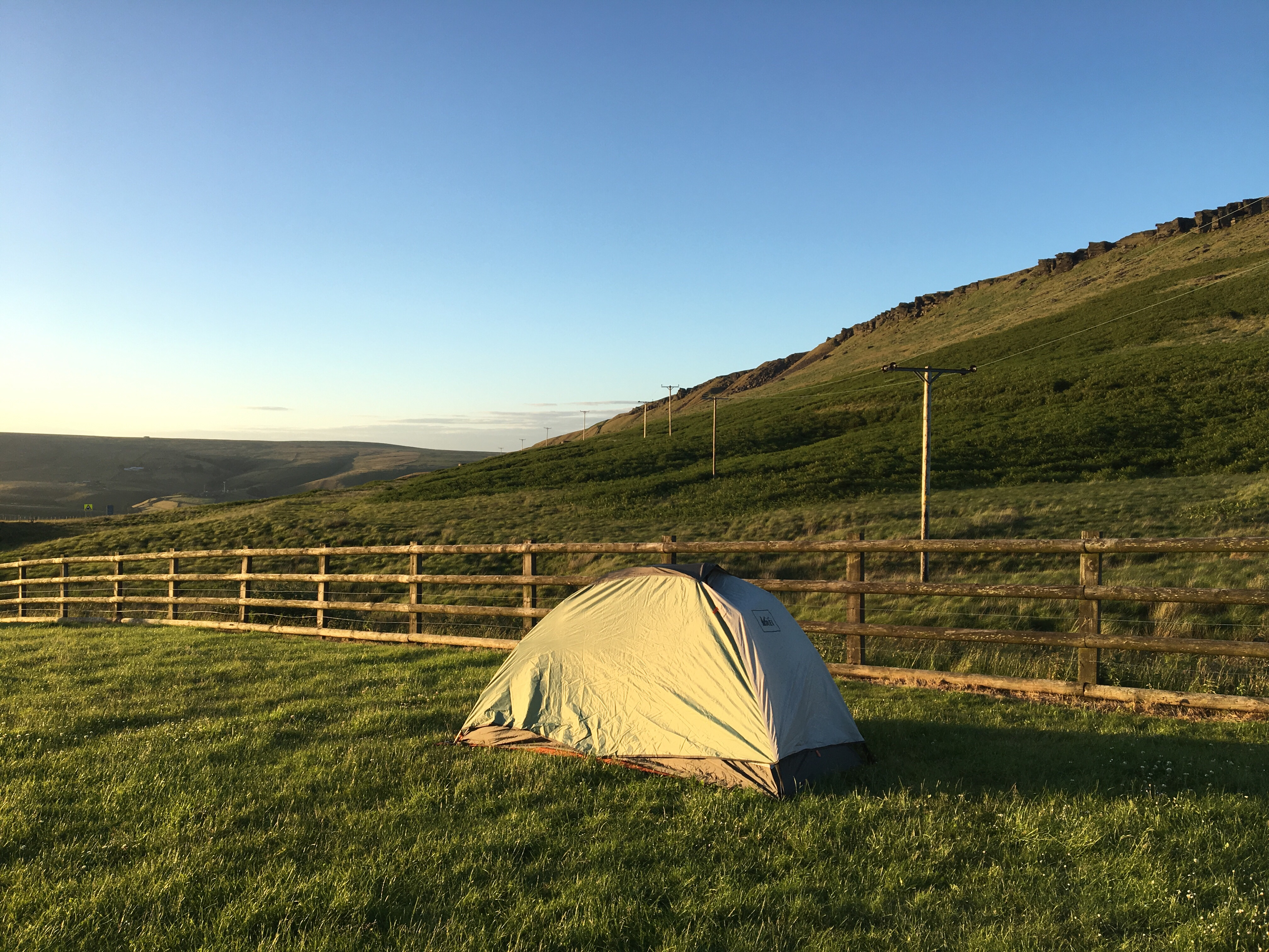 Campsite on the Pennine Way