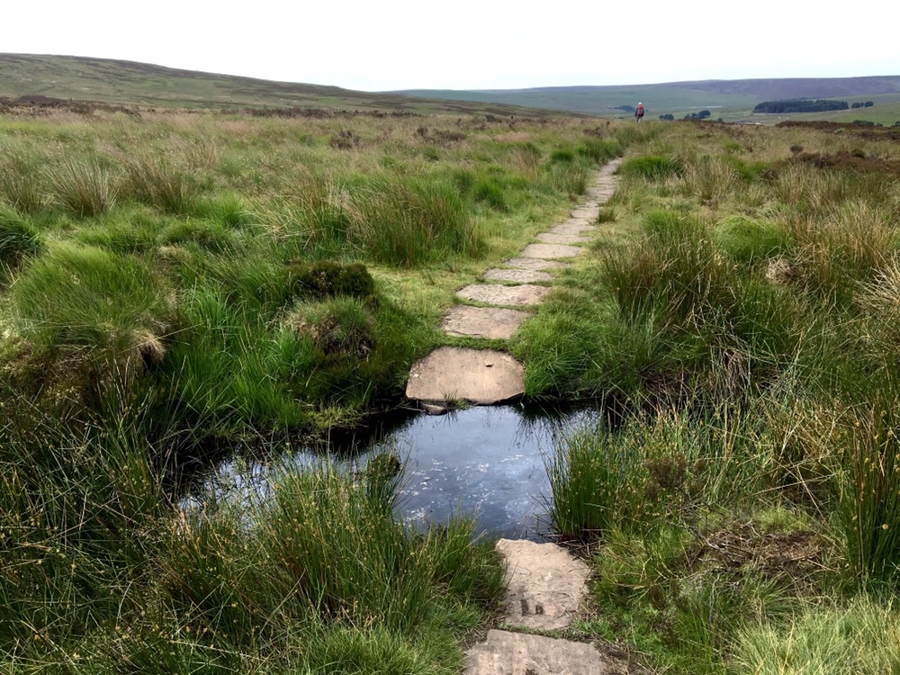 Stone slabs on the Pennine Way