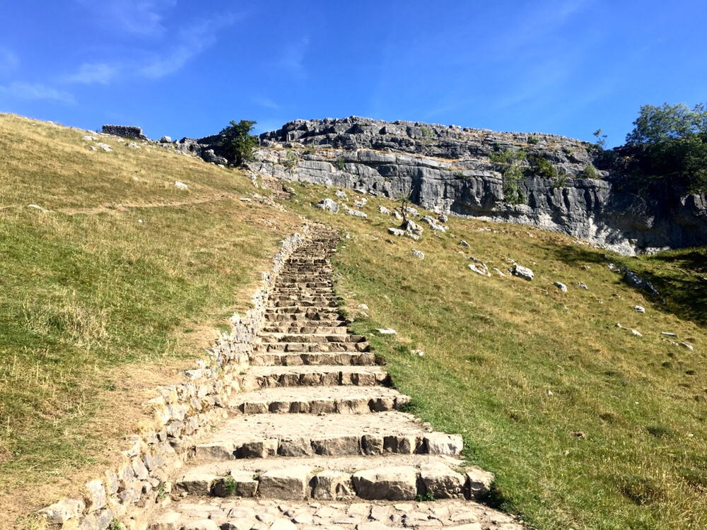 Steps to Malham Cove, Pennine Way