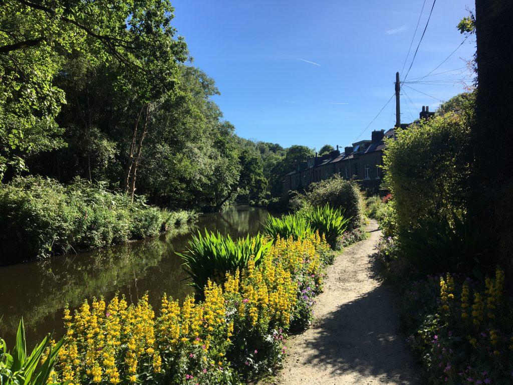 canal towpath to Hebden Bridge, Pennine Way