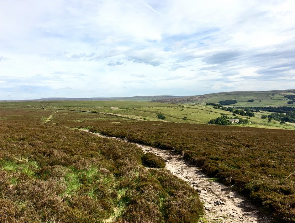 the moors of the Pennine Way