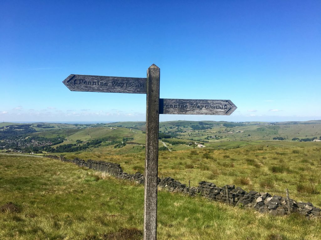 signposts along the Pennine Way
