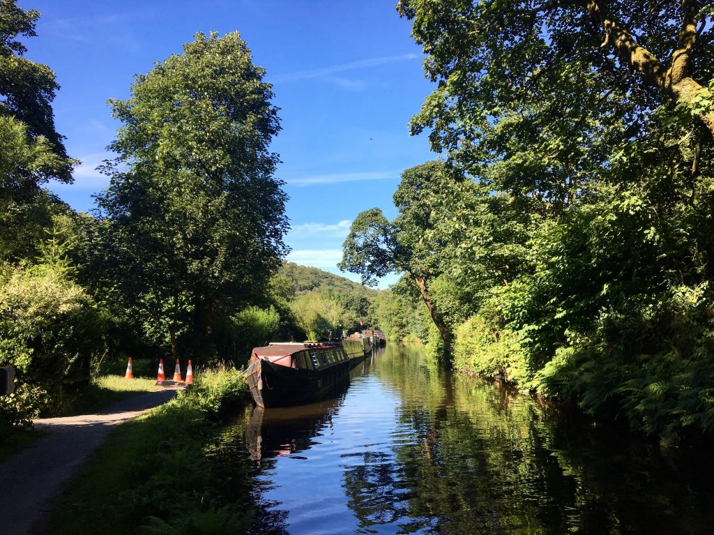 canal path to Hebden Bridge, Pennine Way