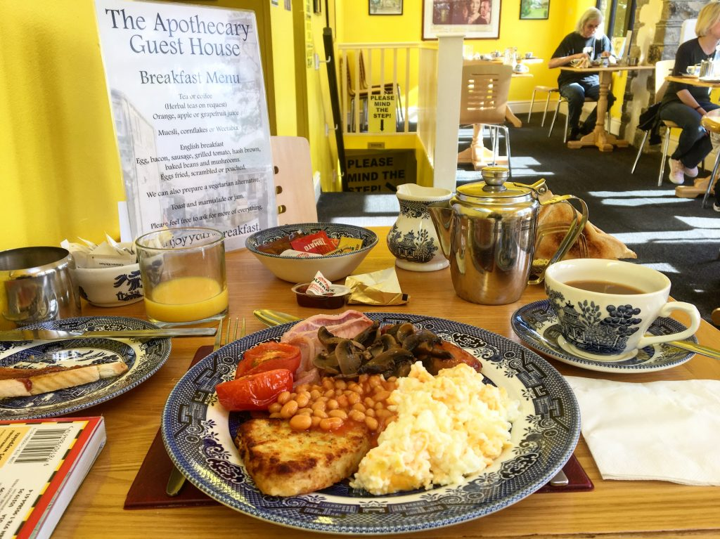 Breakfast at the Apothecary Guest House, Haworth