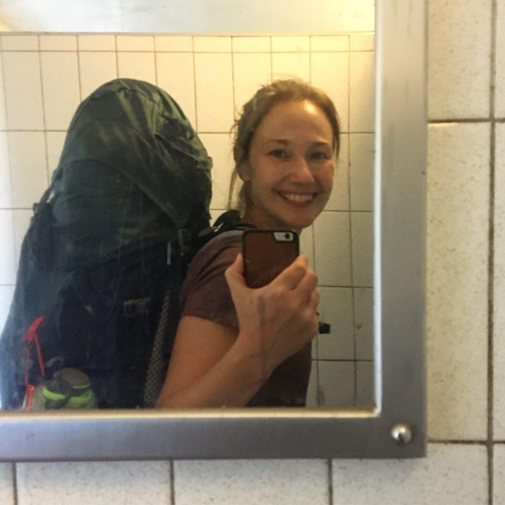 bathroom selfie, Pennine Way