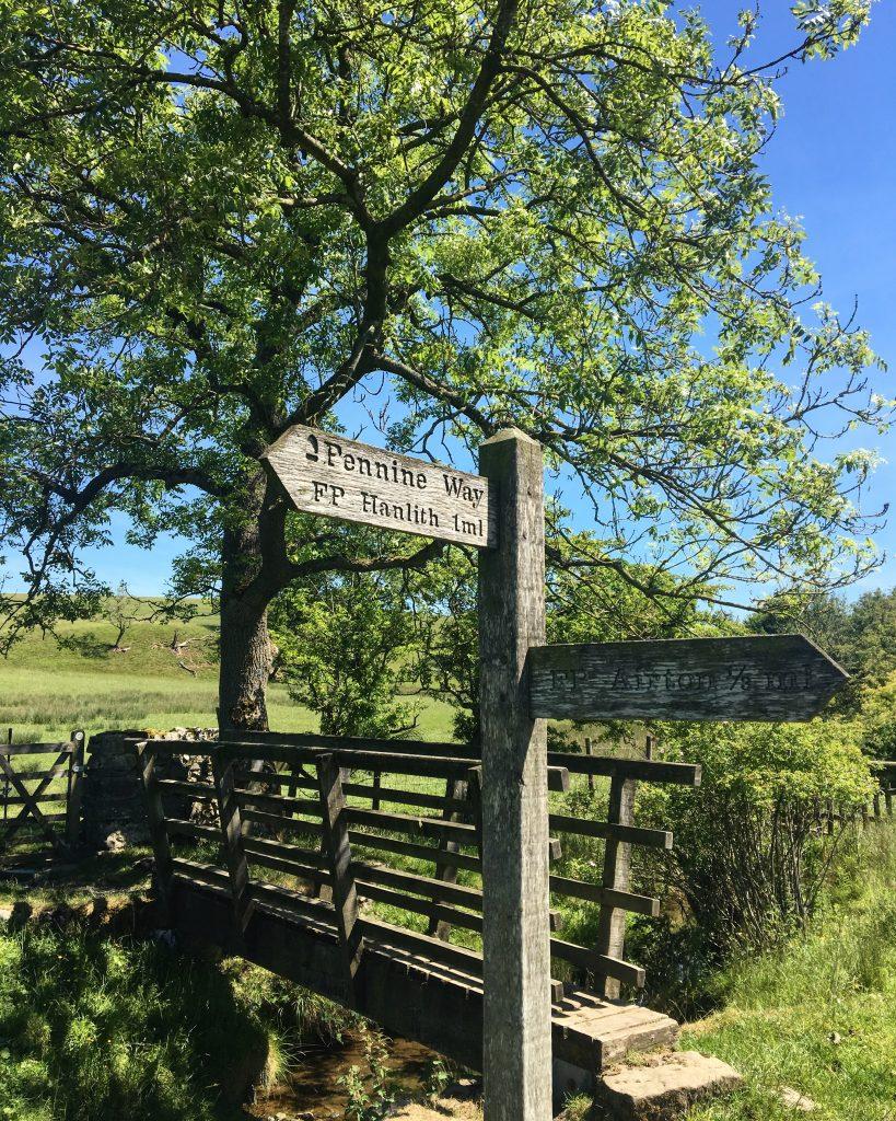 Pennine Way signpost