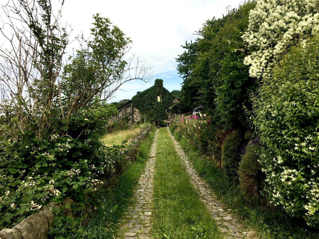 lush path of the Pennine Way, Mytholm