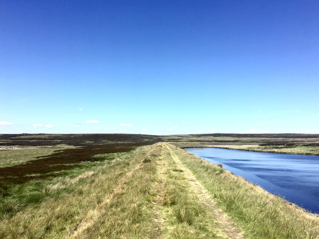 endless walk along the reservoir, Pennine Way