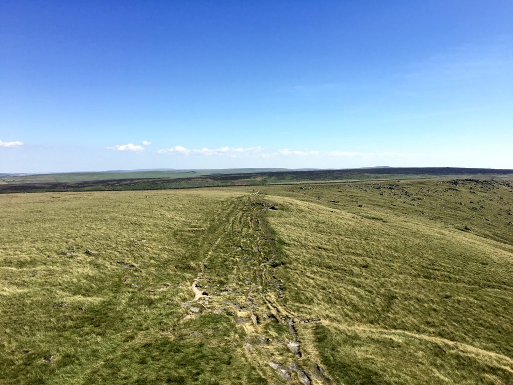 view from Stoodley Pike, Pennine Way