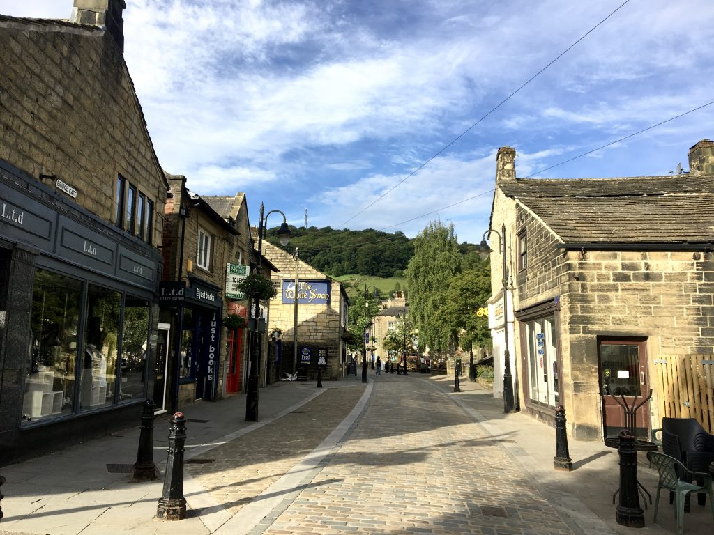 leaving Hebden Bridge on the Pennine Way