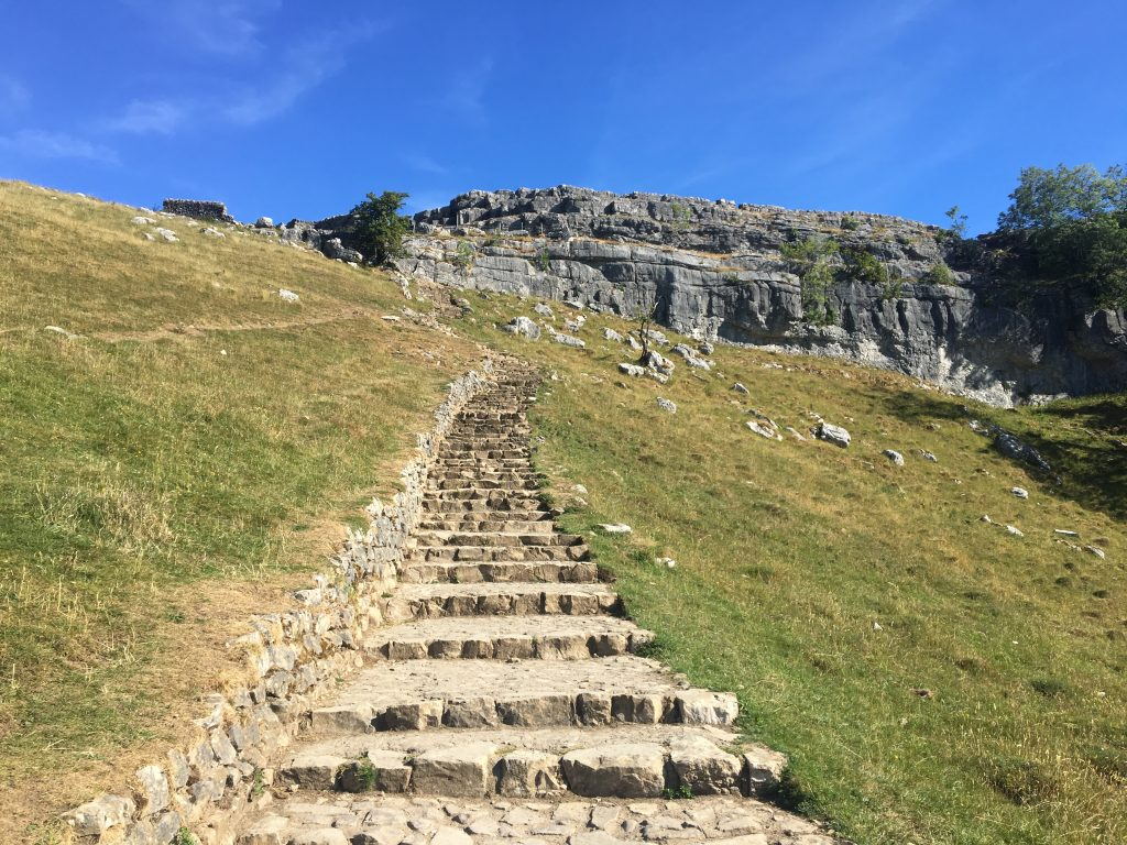 Steps to Malham Cove