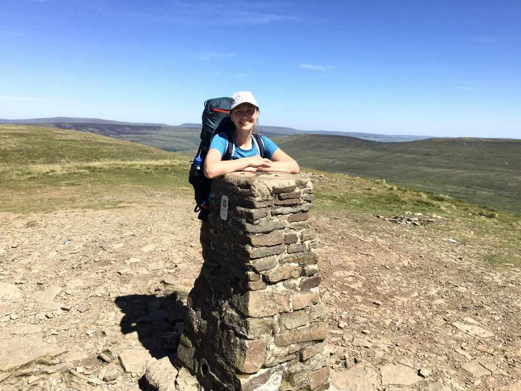 Trig point, Pen-y-Ghent, Pennine Way