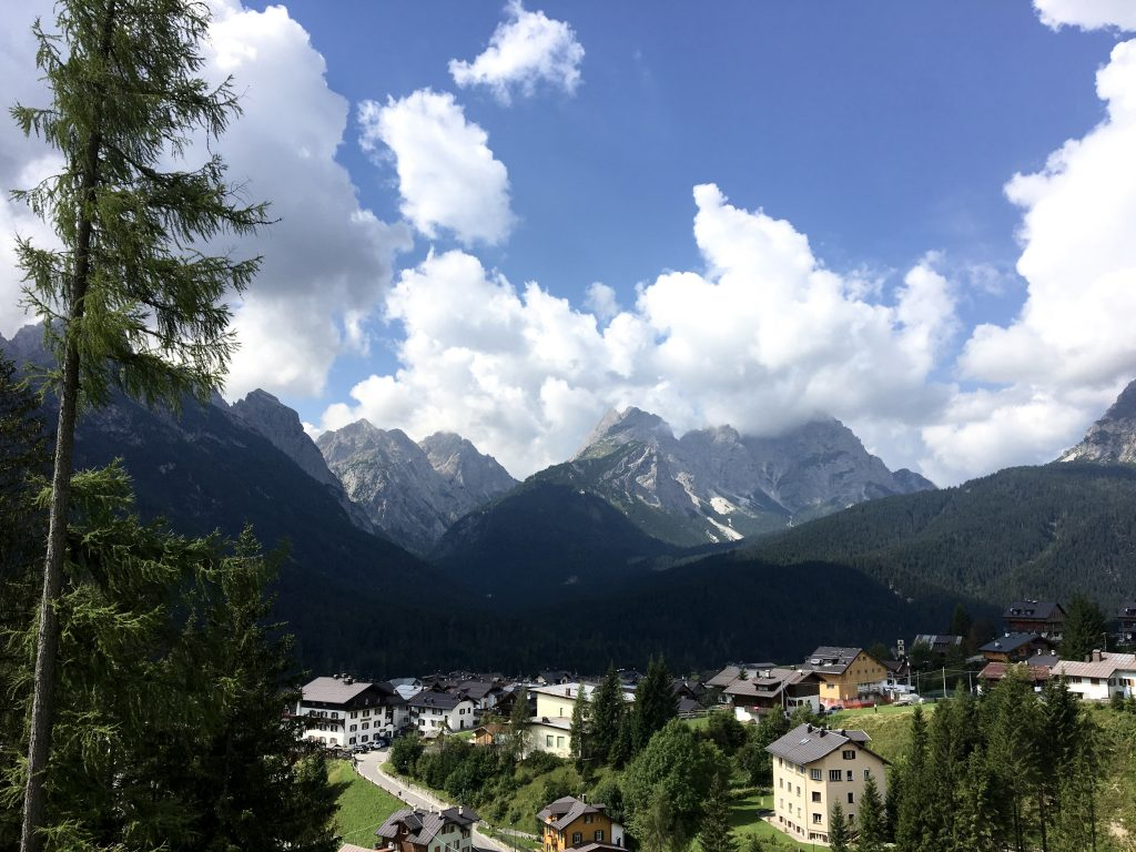 View of Sappada, Italy, Alps