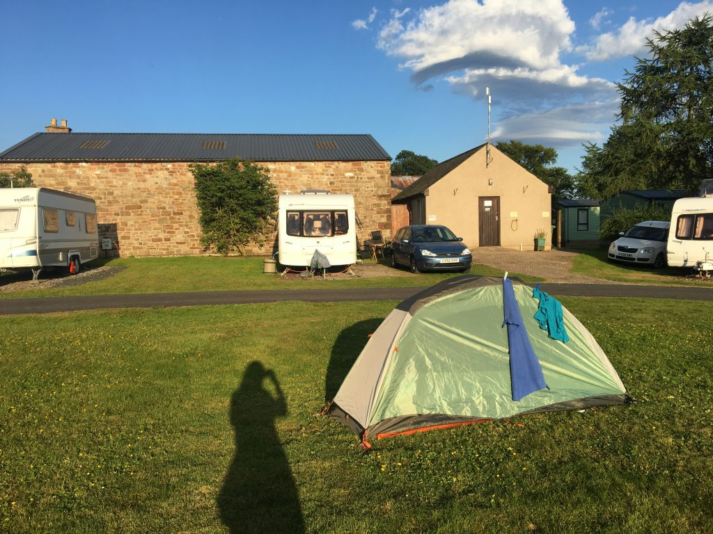 Campsite in Dufton, Pennine Way