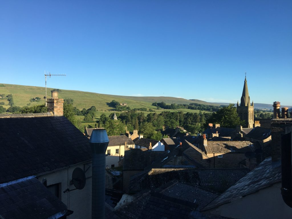 Victoria Inn; a view over the rooftops of Alston