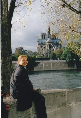 Sitting by Notre-Dame, Paris, France