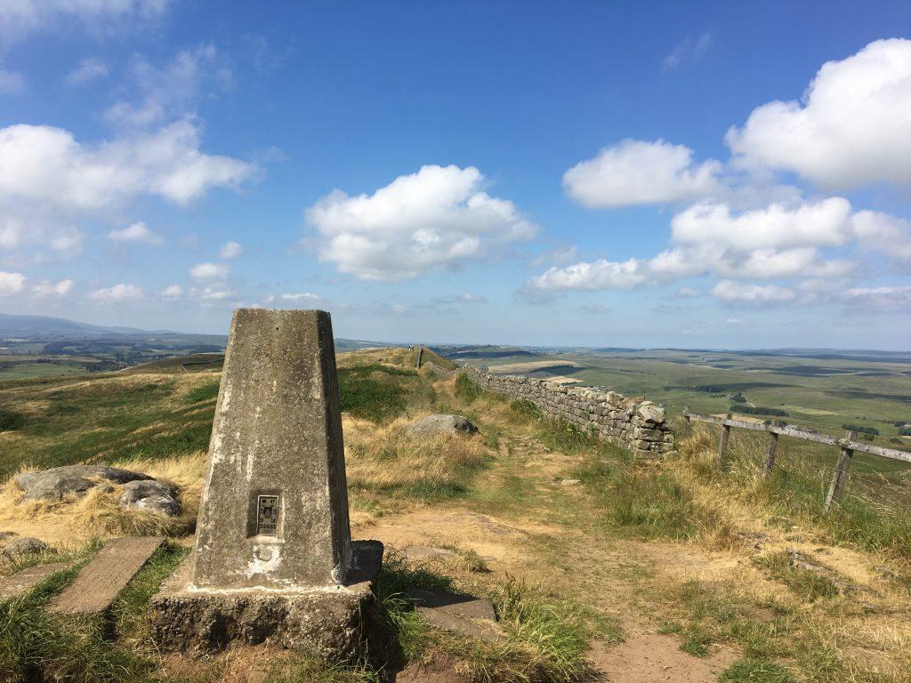 Trig point on Hadrian's Wall, Pennine Way