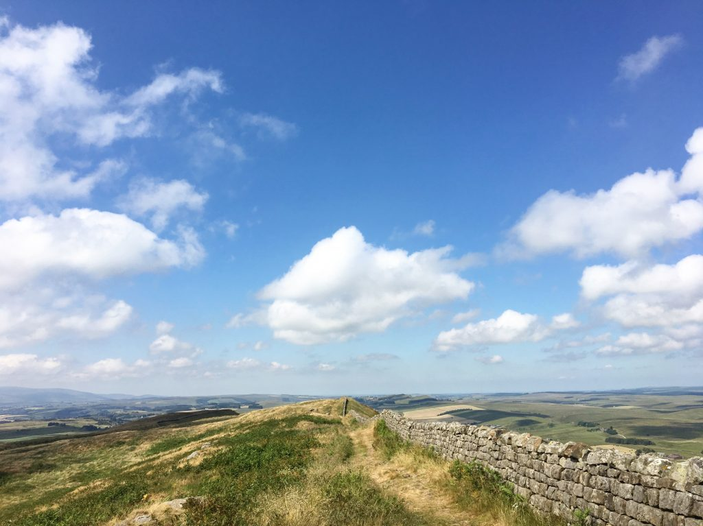 Endless sky on Hadrian's Wall, Day 13 on the Pennine Way