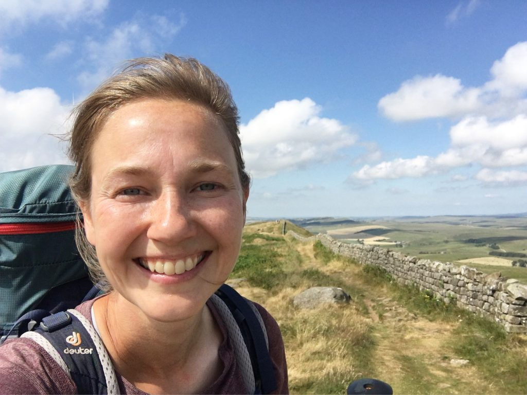 Nadine Walks along Hadrian's Wall, Day 13 on the Pennine Way