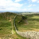 Curving path of Hadrian's Wall, Day 13 on the Pennine Way