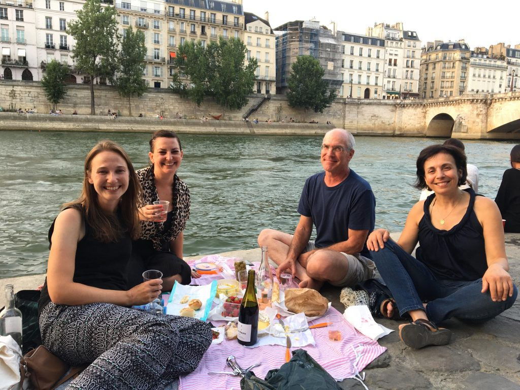 Picnic along the Seine, Paris, France