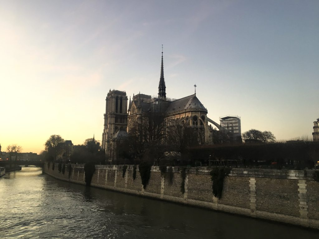 View of Notre-Dame over the Seine, Paris, France