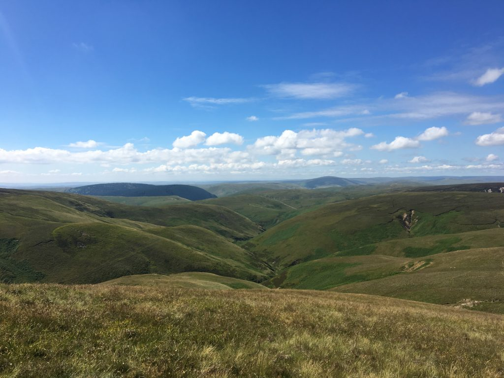 Rolling hills of the Cheviots, last day on the Pennine Way