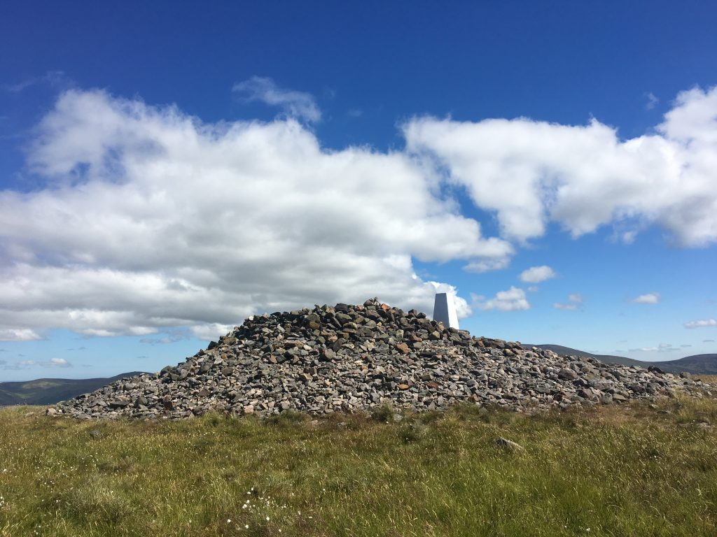Trig point at Windy Gyle, Pennine Way