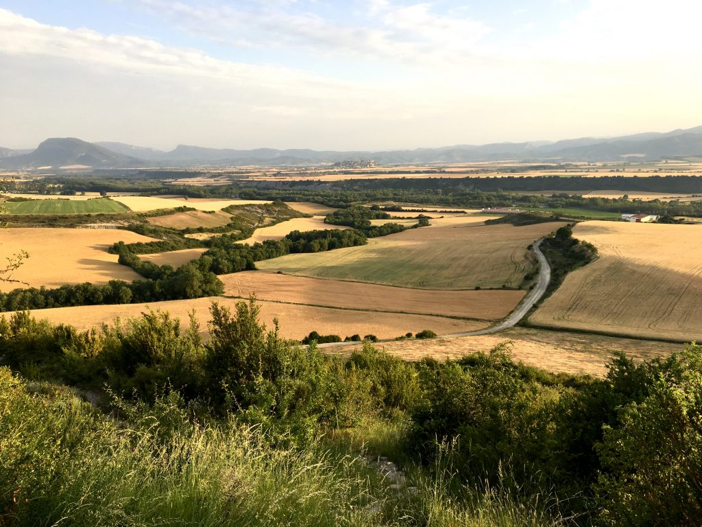 Landscape of the Camino Aragones, perfect Camino