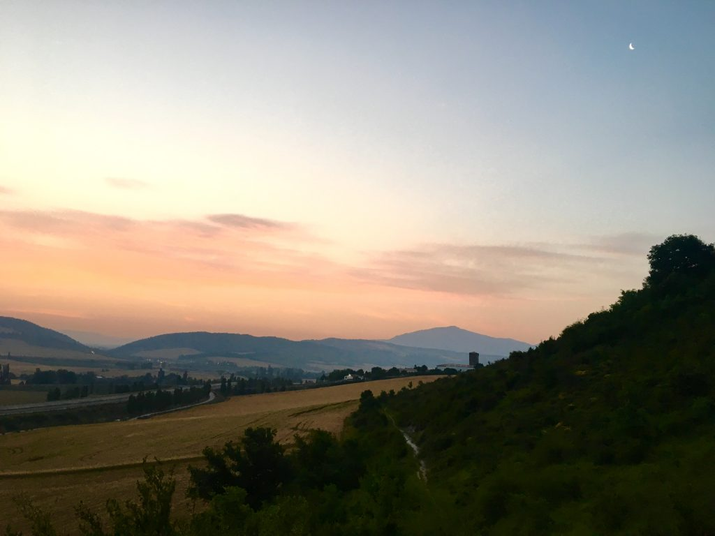 Sunrise on the perfect Camino, Camino Aragones