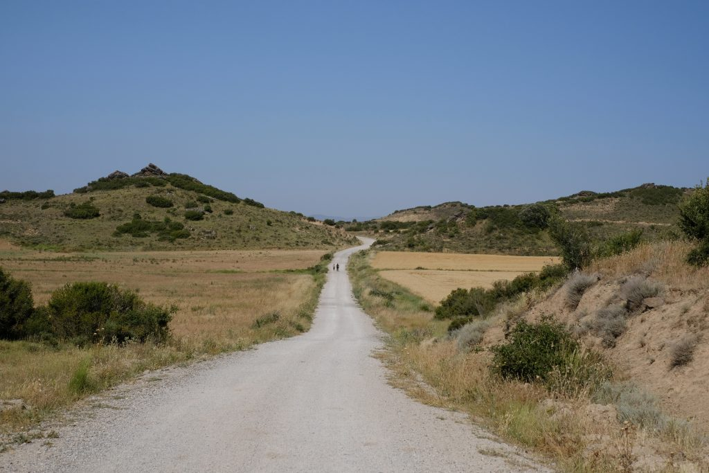 Open road of the Camino Aragonés