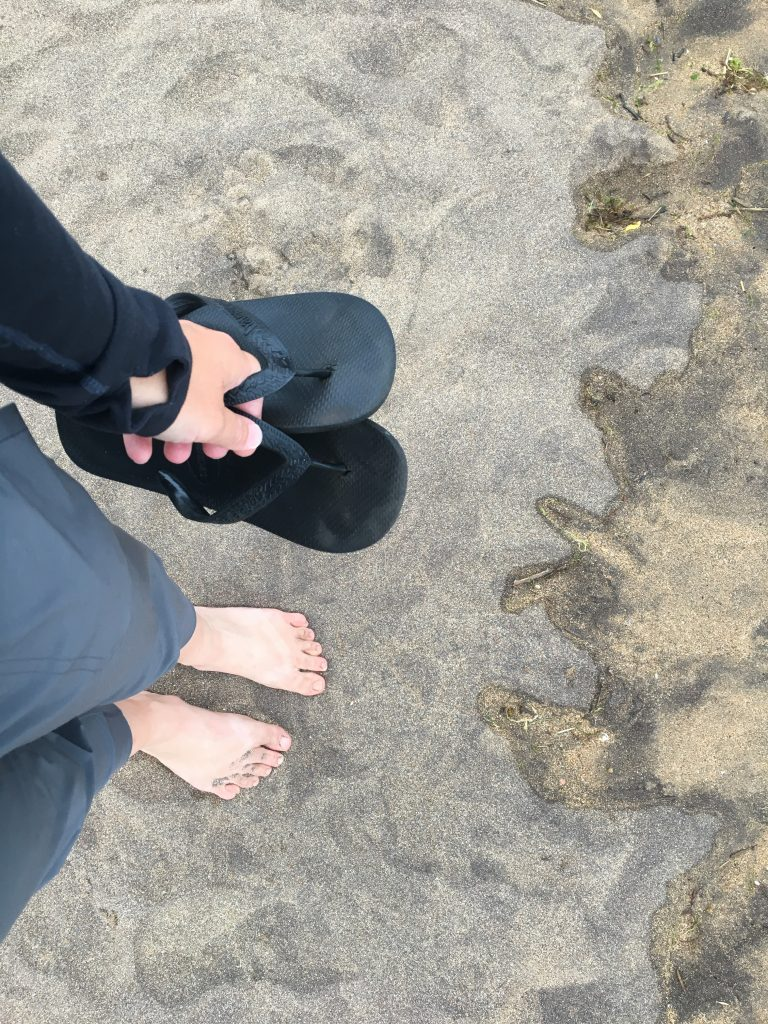 Walking on beach in Pobena, Norte