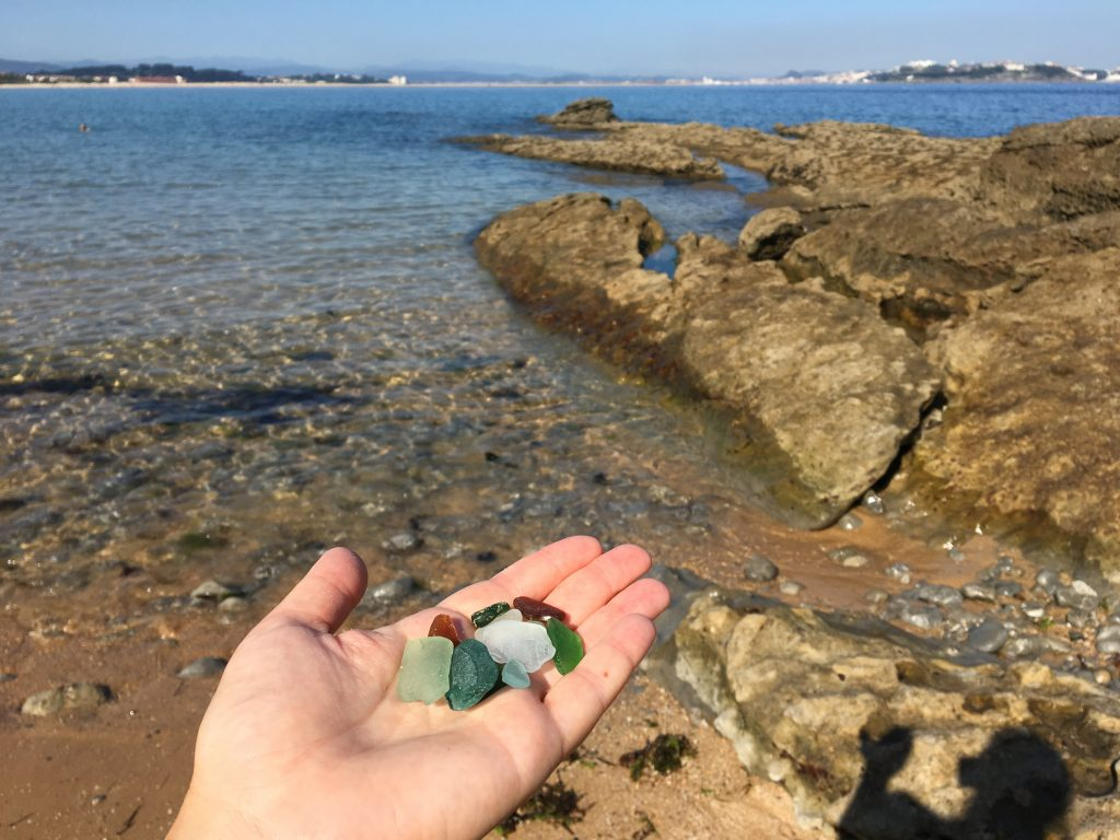 sea glass on beach, Camino del Norte