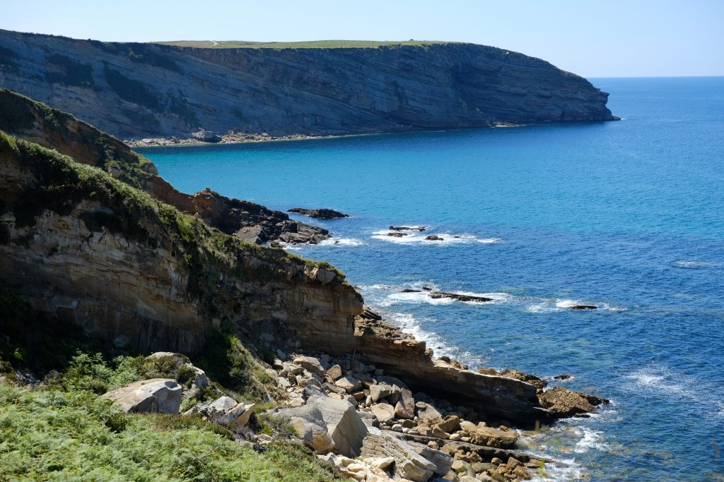 Rocky coastline, Cantabria, Spain, highlights of the Camino del Norte