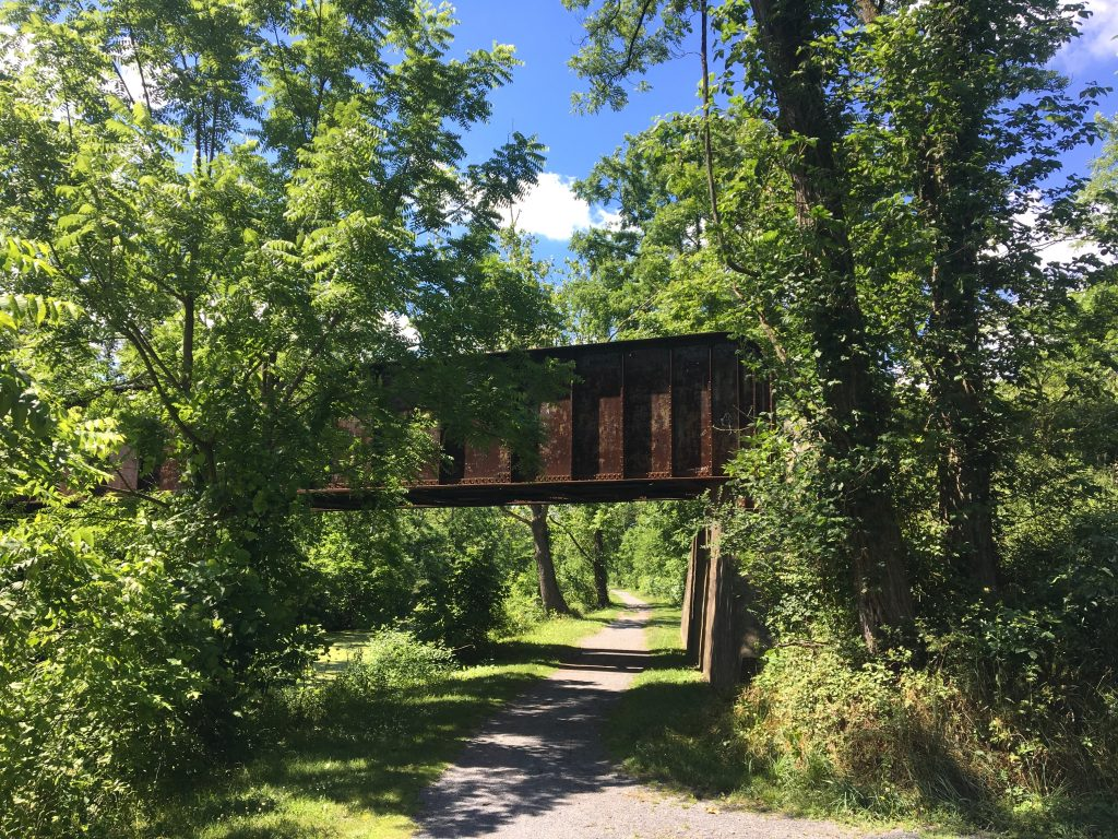 bridge over the C&O canal towpath