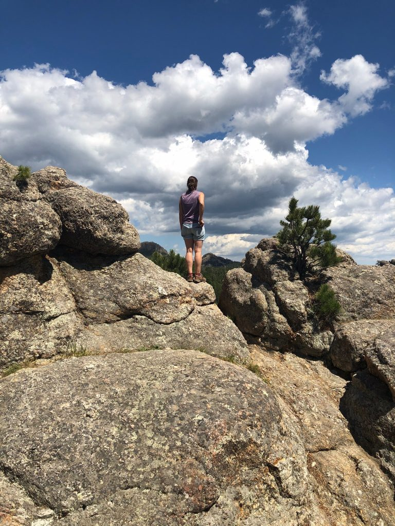 Standing on rock in Custer State Park, SD
